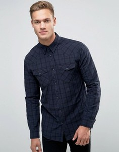 Синяя клетчатая рубашка в стиле вестерн New Look - Синий
