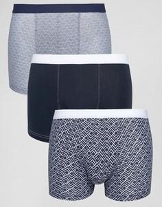 Комплект из 3 боксеров-брифов цвета индиго New Look - Синий
