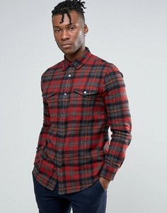 Красная рубашка классического кроя в клетку New Look - Красный