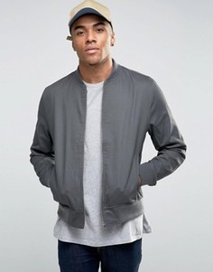 Серая хлопковая куртка-пилот New Look - Серый
