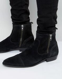 Замшевые ботинки Walk London Lancaster - Черный