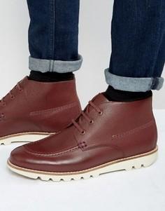 Кожаные ботинки на шнуровке Kickers Kymbo Mocc - Красный