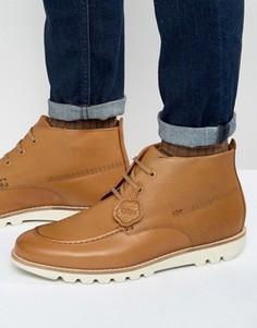 Кожаные ботинки на шнуровке Kickers Kymbo Mocc - Рыжий