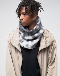 Пушистый шарф-снуд ASOS - Серый