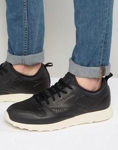 Кожаные кроссовки Reebok Classic Lite Lux - Черный