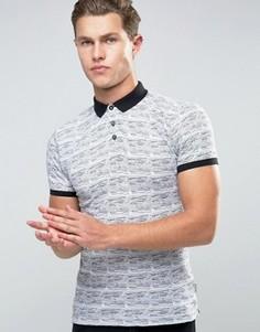 Жаккардовая футболка-поло Bellfield - Белый