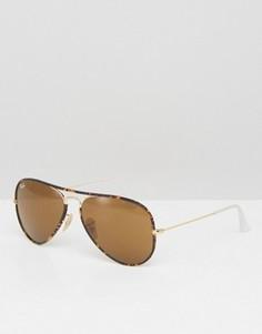 Солнцезащитные очки-авиаторы Ray-Ban 0RB3025 - Коричневый