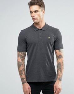 Темно-серая футболка-поло с логотипом-орлом Lyle & Scott - Серый