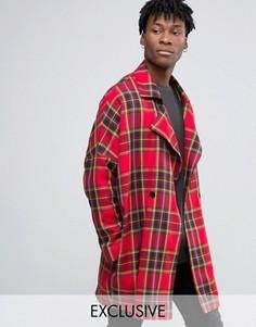 Oversize пальто-кокон Reclaimed Vintage - Красный
