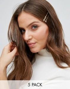 Заколки для волос Monki Omg - Золотой