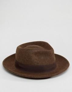 Коричневая меланжевая шляпа ASOS - Коричневый