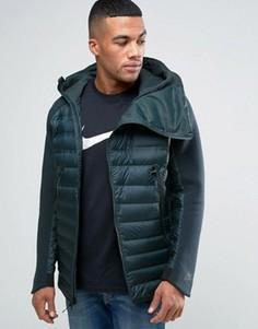 Зеленая куртка с капюшоном Nike Aeroloft 806838-364 - Зеленый