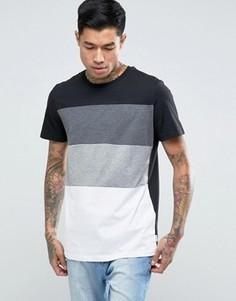 Удлиненная футболка Jack & Jones - Черный