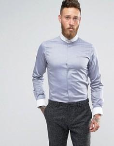 Рубашка узкого кроя с белым закругленным воротником Hart Hollywood - Синий