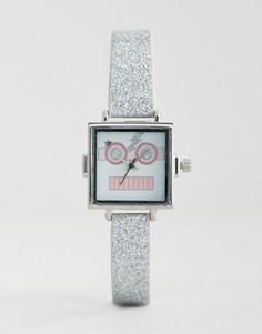Часы с блестками и рисунком в виде робота ASOS - Мульти