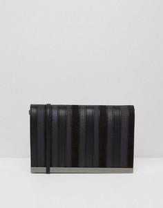 Черная сумка через плечо с металлической вставкой ALDO - Черный
