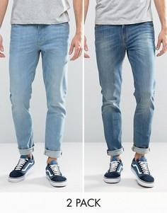 2 джинсов скинни (голубые/синие) ASOS - СО СКИДКОЙ - Синий