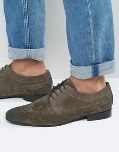 Серые замшевые броги ASOS - Серый