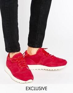Красные замшевые кроссовки Saucony Exclusive Jazz O - Красный