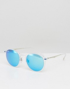 Круглые солнцезащитные очки с синими стеклами Ray-Ban 0RB4244 - Прозрачный