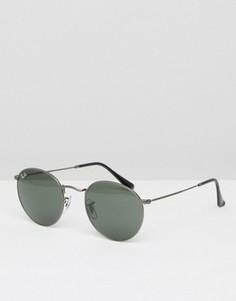 Круглые солнцезащитные очки Ray-Ban 0RB3447 - Серебряный