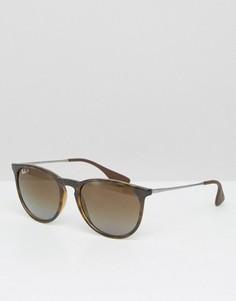 Круглые солнцезащитные очки с поляризованными линзами Ray-Ban 0RB4171 - Коричневый