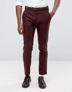 Бордовые саржевые брюки Original Penguin - Красный