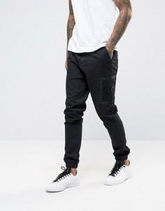 Черные джоггеры скинни с контрастными боковыми карманами ASOS - Черный