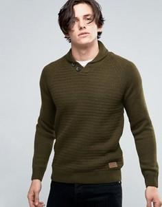 Джемпер с шалевым воротником Threadbare - Зеленый