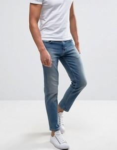Светлые укороченные узкие джинсы стретч ASOS - Синий