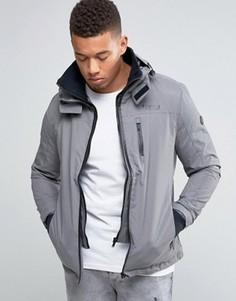 Куртка с капюшоном и воротником-труба Firetrap - Серый