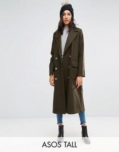 Oversize-пальто ASOS TALL - Зеленый