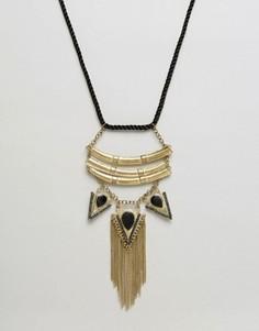 Ожерелье с подвесками-стрелами и бахромой Raga - Золотой