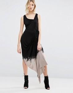 Асимметричное платье с эффектом деграде Religion - Черный