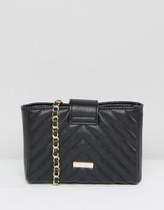 Небольшая стеганая сумка через плечо Aldo - Черный