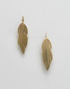 Серьги в виде перьев Made - Золотой