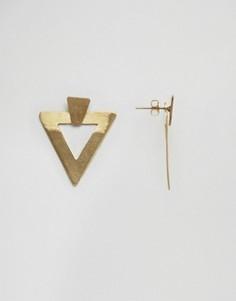 Серьги с треугольниками Made Daisy Knights - Золотой