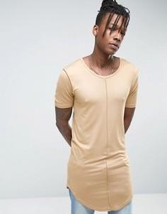 Длинная драпированная футболка Avior - Stone
