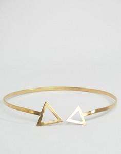 Металлическое ожерелье с треугольниками Made - Золотой