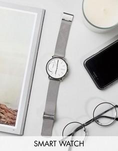 Серебристые строгие часы с сетчатым ремешком Skagen Hagen - Серебряный