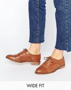 Броги на шнуровке для широкой стопы ASOS MUSE - Рыжий