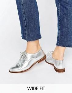 Броги на шнуровке для широкой стопы ASOS MUSE - Серебряный