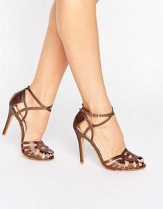 Сандалии на каблуке с ремешками True Decadence - Медный