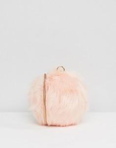 Бледно-розовая сумка-шар через плечо из искусственного меха ALDO - Розовый