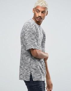 Oversize-футболка с вафельной текстурой Serge De Nimes - Серый