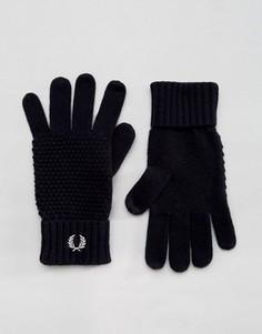 Перчатки из овечьей шерсти Fred Perry - Темно-синий