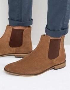 Светло-коричневые замшевые ботинки челси KG By Kurt Geiger - Рыжий