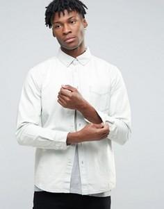 Выбеленная джинсовая рубашка Hoxton Denim - Синий