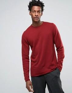 Джемпер с круглым вырезом Troy Roll Edge - Красный