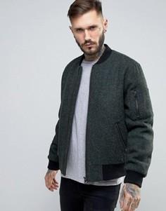 Твидовая куртка цвета хаки ASOS - Зеленый
